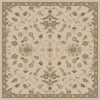 Hand-tufted Karla Traditional Wool Area Rug (6' Square)