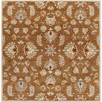 Hand-tufted Ty Traditional Wool Area Rug (6' Square)