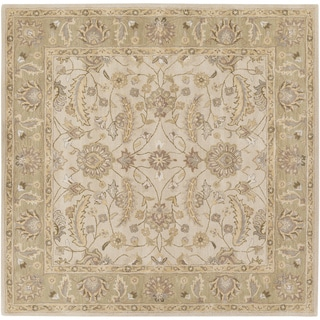 Hand-tufted Tiana Traditional Wool Rug (6' Square)