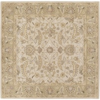 Hand-tufted Tiana Traditional Wool Area Rug (6' Square)