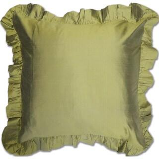 Moss Green Silk Euro Sham