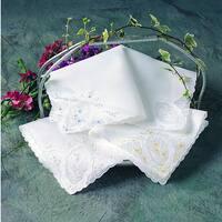 Embroidered Handkerchief - set of 12