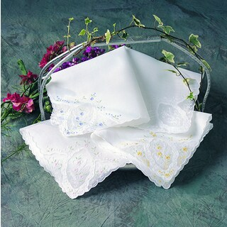 Embroidered Handkerchief - set of 12