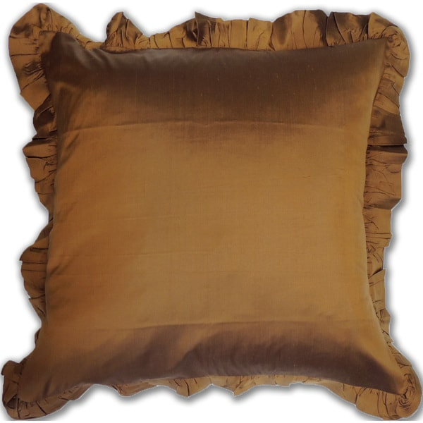 Bronze Silk Euro Sham