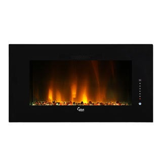 Caesar Luxury Linear Wall Mount Recess Freestanding 50-inch Electric Fireplace with Multicolor Flame