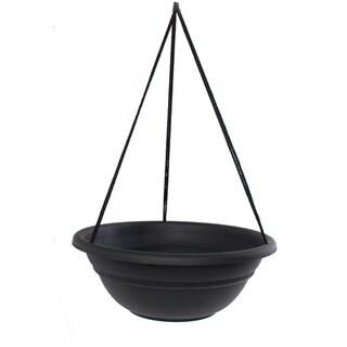 Bloem 17-inch Milano Black Hanging Basket