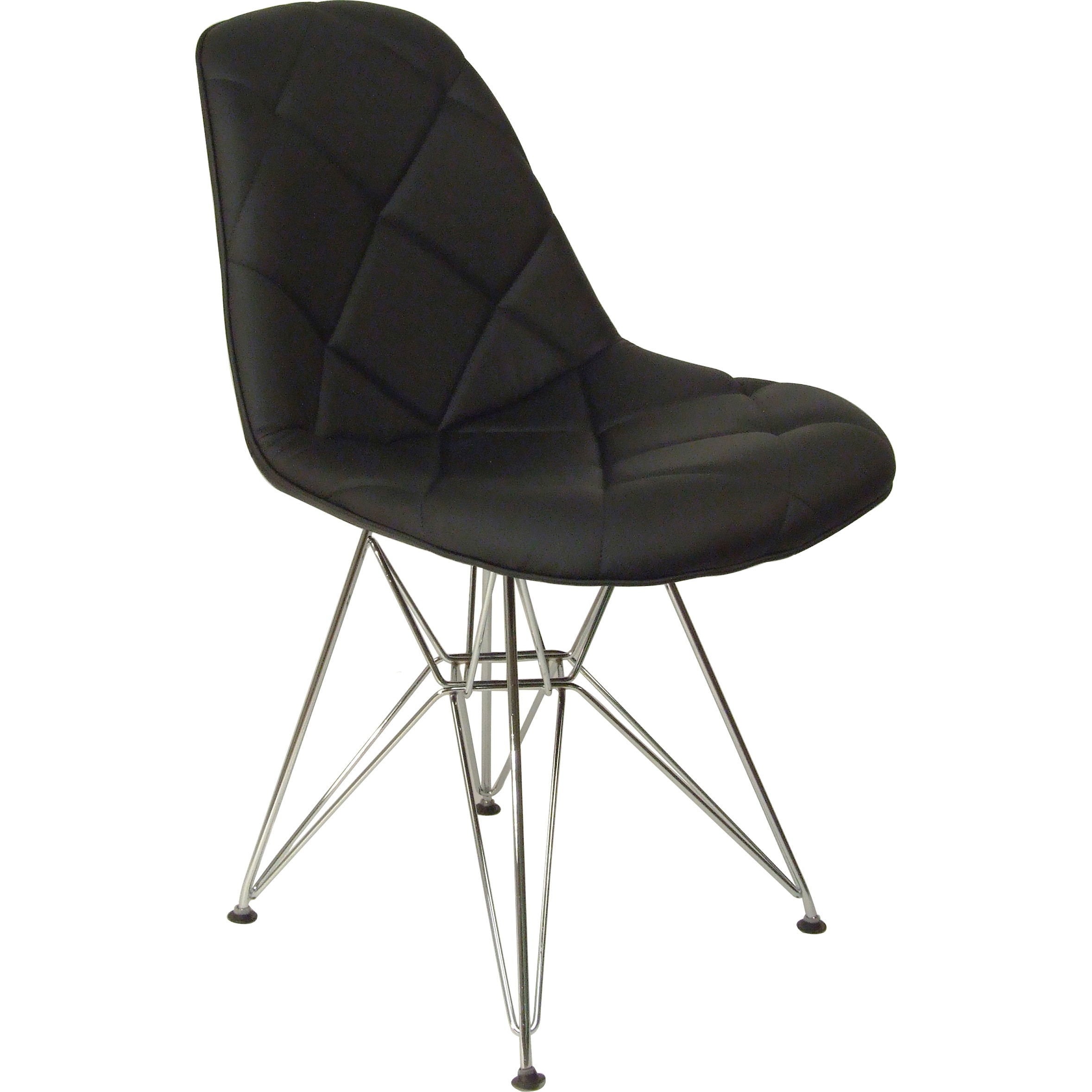 Hans Andersen Home Mid-Century Padded Dining Chair (Black...