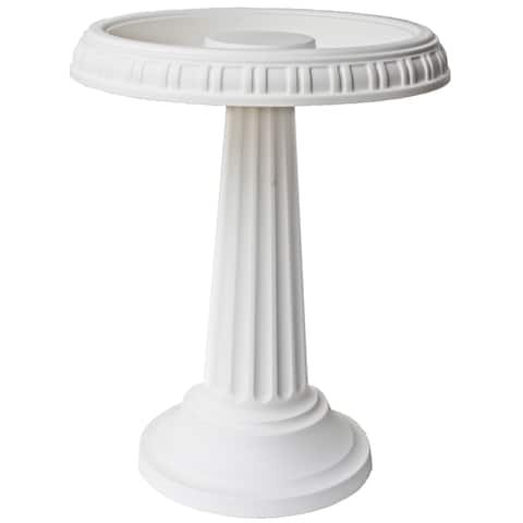 Bloem Grecian White Bird Bath