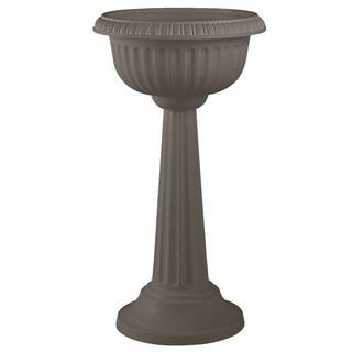 Bloem 18-inch Grecian Peppercorn Pedestal Urn