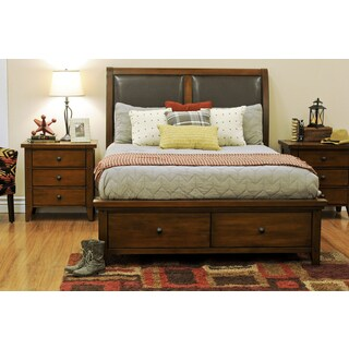 Del Prado Queen-size Padded Leather Storage Bed