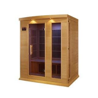 Maxxus MX-K306-01 3-person Carbon Infrared Wood Sauna