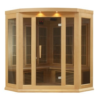 Maxxus MX-K356-01 3-person Carbon Infrared Corner Wood Cedar Sauna