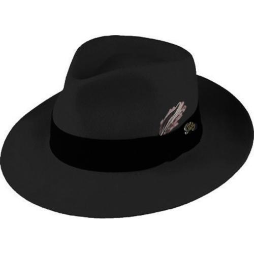 7c282733097 Shop Men s Bailey of Hollywood Fedora 7002 Black - Free Shipping Today -  Overstock - 9696664