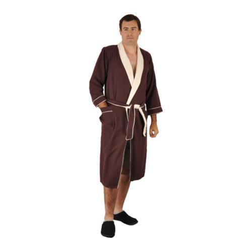 ddc9d6b852 Shop Chadsworth   Haig Microplush Robe Chocolate - On Sale - Free Shipping  Today - Overstock - 9698892