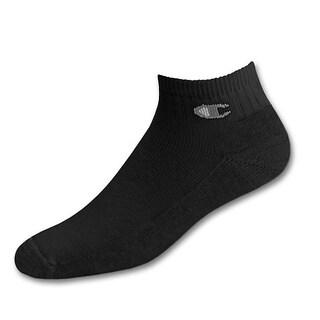 Champion Double Dry High Performance Men's Full Cushion Quarter Socks Extended Sizes 3-Pack