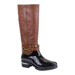 Women's Reneeze Ranch-01 Glossy Two-Tone Boot Brown PU