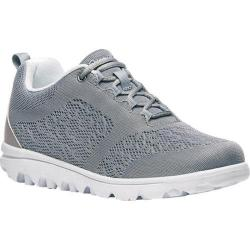 Women's Propet TravelActiv Bungee Lace Shoe Silver Nylon Mesh/Polyurethane