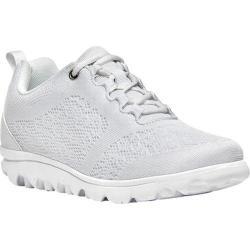 Women's Propet TravelActiv Bungee Lace Shoe White Nylon Mesh/Polyurethane