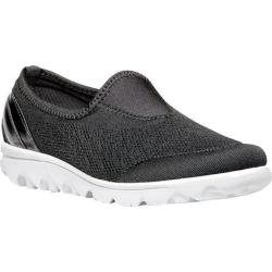 Women's Propet TravelActiv Slip-On Black Nylon Mesh/Polyurethane