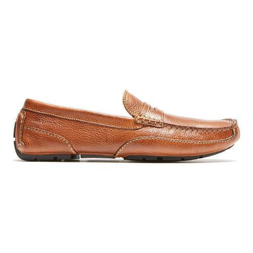 Men's Rockport Oaklawn Park Penny Tan Leather - Thumbnail 1
