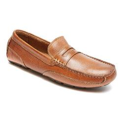 Men's Rockport Oaklawn Park Penny Tan Leather