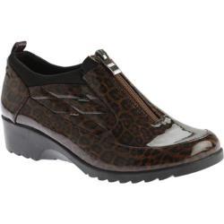 Women's Beacon Shoes Raindrop Shoe Bootie Leopard Patent Polyurethane