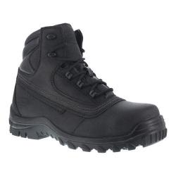 Men's Iron Age Backstop 6in Steel Toe Waterproof Boot Black Leather