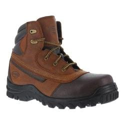 Men's Iron Age Backstop 6in Steel Toe Waterproof Boot Brown Leather