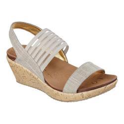 Women's Skechers Beverlee Smitten Kitten Wedge Sandal Taupe