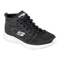 Women's Skechers Burst Divergent High Top Black/White