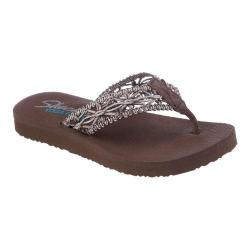 Women's Skechers Meditation Ocean Breeze Thong Sandal Brown