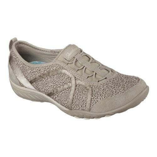 50263730fb32 Shop Women s Skechers Relaxed Fit Breathe Easy Meadows Bungee Lace Shoe  Taupe - Free Shipping Today - Overstock - 11027566