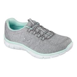 Women's Skechers Relaxed Fit Empire Heart To Heart Bungee Lace Shoe Gray/Multi