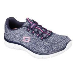 Women's Skechers Relaxed Fit Empire Heart To Heart Bungee Lace Shoe Navy/Hot Pink