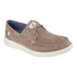 Men's Skechers Relaxed Fit Status Melec Boat Shoe Light Brown