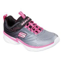 Girls' Skechers Swirly Girl Shine Vibe Sneaker Black/Neon Pink