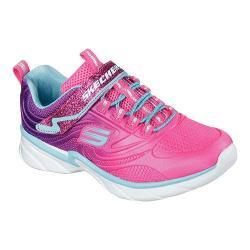 Girls' Skechers Swirly Girl Shine Vibe Sneaker Neon Pink/Purple