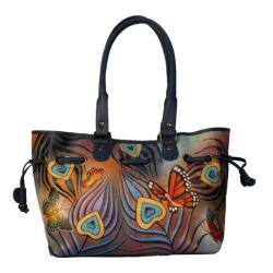 Women's ANNA by Anuschka Draw-String Tote 8050 Flying Peacock|https://ak1.ostkcdn.com/images/products/97/4/P18025900.jpg?impolicy=medium
