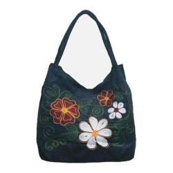 Women's Bamboo54 Hobo Embroidered Bag Black 20