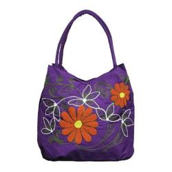 Women's Bamboo54 Hobo Embroidered Bag Purple 1
