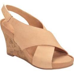 Women's A2 by Aerosoles Cherry Plush Wedge Sandal Light Tan Faux Leather