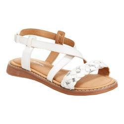 Girls' Hanna Andersson Helga Slingback White PU Leather