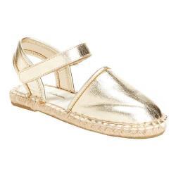 Girls' Hanna Andersson Paulina II Closed Toe Sandal Gold PU Leather