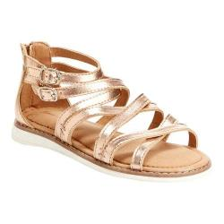 Girls' Hanna Andersson Vera II Gladiator Sandal Rose Gold PU Leather
