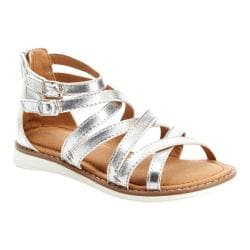 Girls' Hanna Andersson Vera II Gladiator Sandal Silver PU Leather