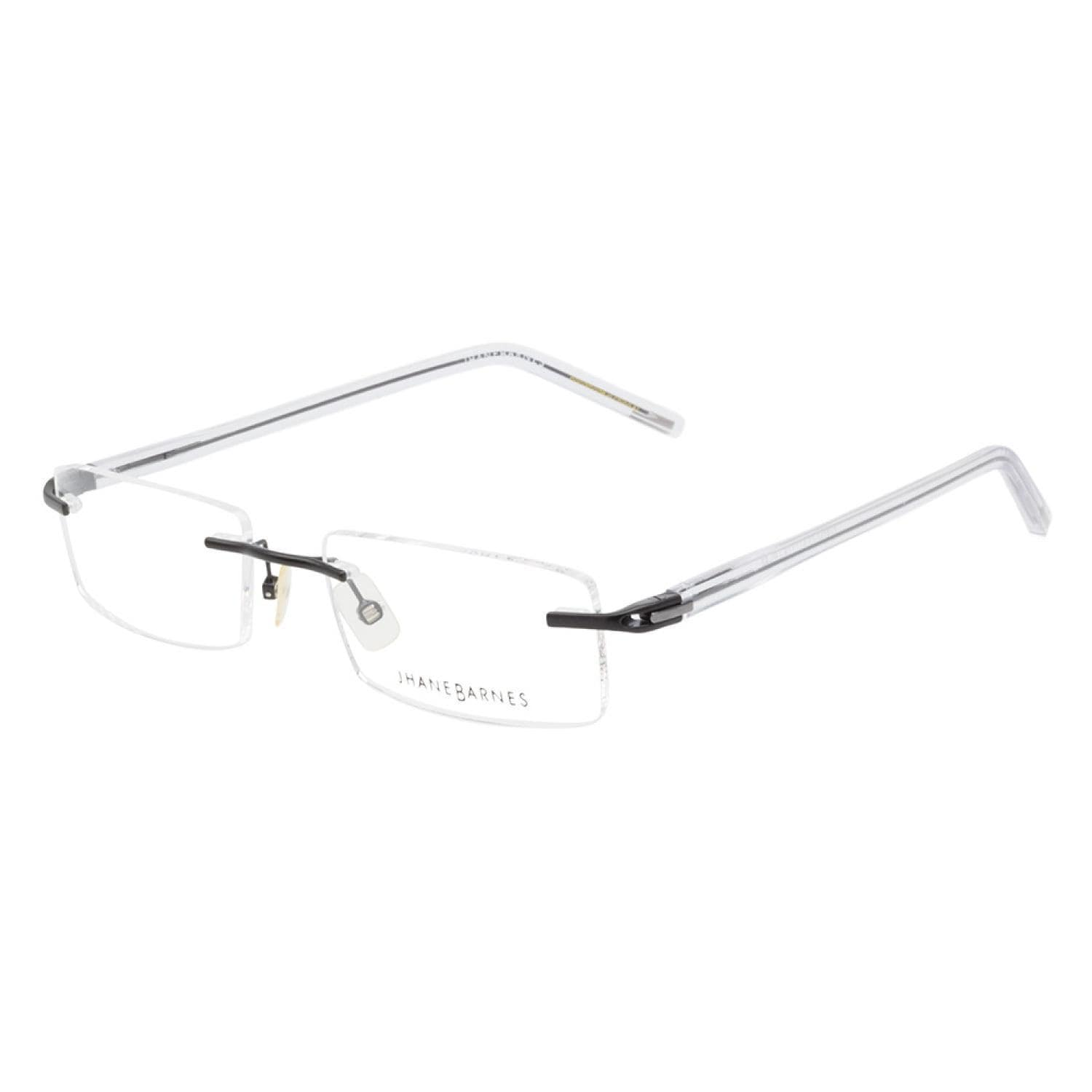 02290d3814a Shop Jhane Barnes Subset 12 BK Black Prescription Eyeglasses - Free ...