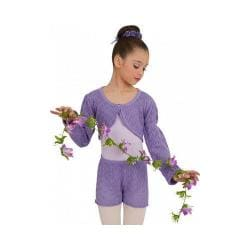 Girls' Capezio Dance Lace Short Wisteria