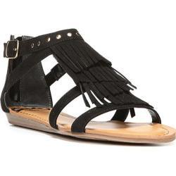 Women's Fergalicious Dusty Sandal Black Synthetic Suede