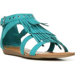 Women's Fergalicious Dusty Sandal Turquoise Synthetic Suede