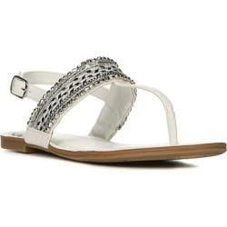 Women's Fergalicious Frazzle Sandal White Synthetic Leather